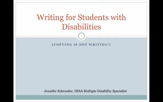 creative writing for students with disabilities This specialization covers elements of three major creative writing genres: short story, narrative essay, and memoir you will master the techniques that good writers use to compose a bracing story, populated with memorable characters in an interesting setting, written in a fresh descriptive style.